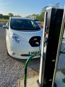Newly installed EV Charging points at Burton Constable Holiday Park